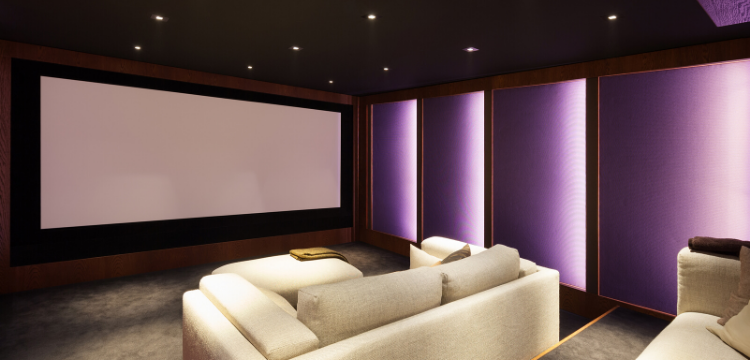 Home Theater in Basement Renovation in Hudson Valley NY