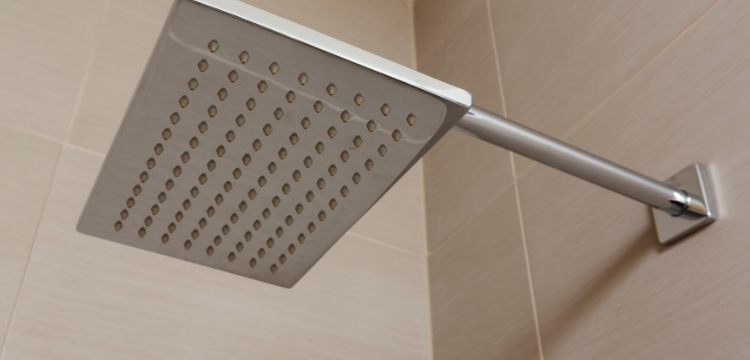 Rain Showerhead in Bathroom Renovation in Hudson Valley NY