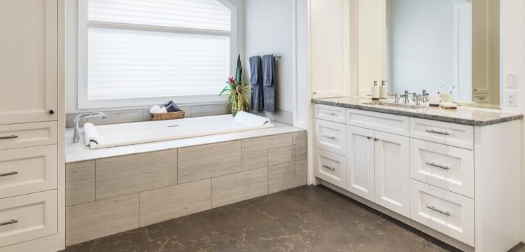 Custom storage in Hudson Valley NY Bathroom Renovation