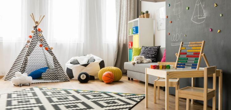 kid toy room with modern design