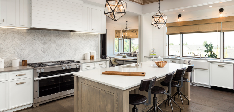 Kitchen Tile and Hardwood Flooring for Easy Care